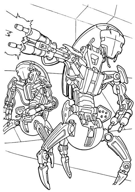 stare disegni da colorare gratis i droidi distruttori di wars disegni da colorare