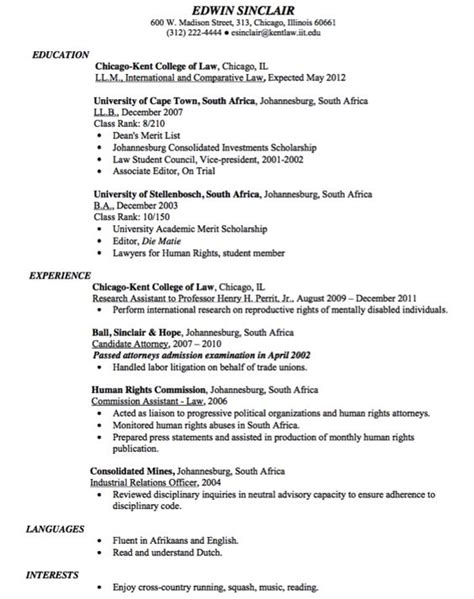 class rank resume sle resume for driver