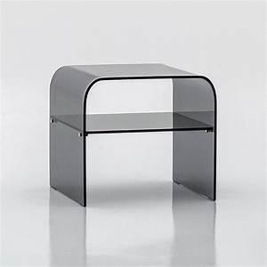 Table De Chevet Verre : table chevet verre ~ Teatrodelosmanantiales.com Idées de Décoration