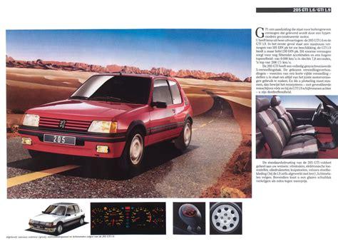 1988 Peugeot 205 brochure