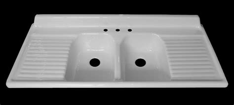 Double Sinks With Drainboards by Nbi Introduces Its Sixth Vintage Reproduction Kitchen