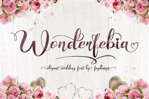 wonderfebia script wedding font ifontsxyz