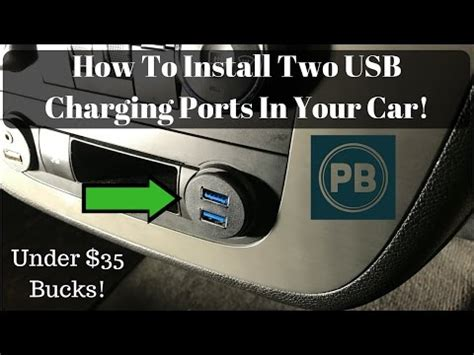 How To Add A Usb To A Car Stereo by How To Add Two Usb Charging Ports In Your Vehicle