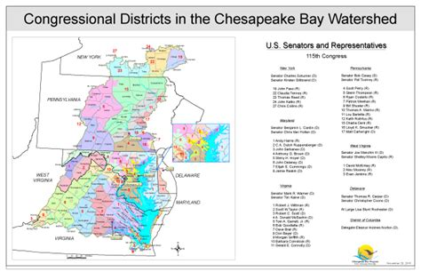 Chesapeake Bay Gis Data map congressional districts in the chesapeake bay