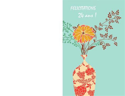 Carte De à Imprimer by Carte Anniversaire 24 Ans 224 Imprimer Gratuitement