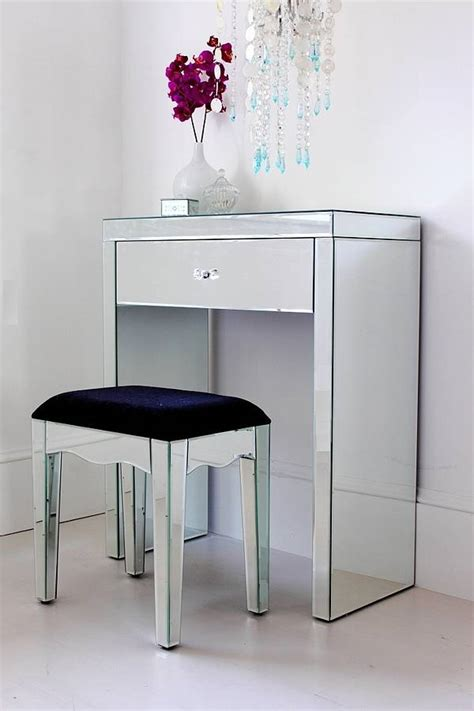 Glass Mirror Vanity Table by Mini Mirrored Dressing Table By Out There Interiors