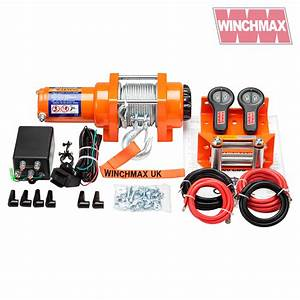 Winch 12v Atv Boat Trailer 3000 Lb Winchmax Brand