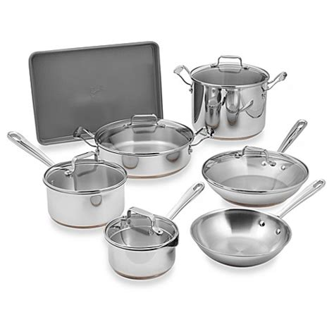 emerilware stainless steel  piece cookware set bed bath