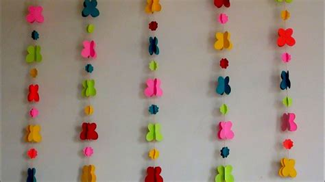 diy easy paper wall hanging making wall room wall