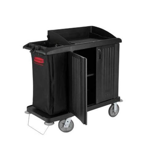 rubbermaid commercial products compact housekeeping cart