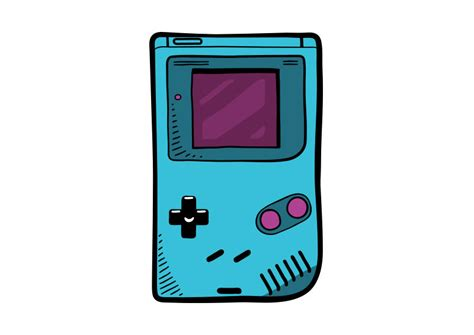 Game Boy Video Game Console Vector Drawing