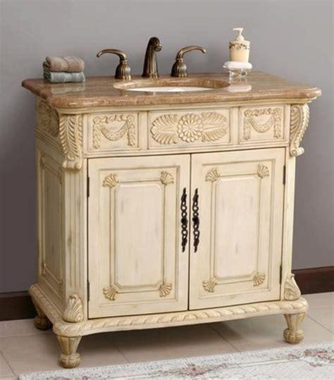 Ivory Bathroom Vanity by Virtu Usa Casablanca Antique Ivory Marfil Single