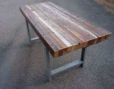 Make Outdoor Wood Table by Handmade Custom Outdoor Indoor Rustic Industrial Reclaimed Wood Dining Table