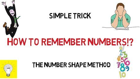 How To Memorize Numbers  Remember Numbers  Number Shape Method Youtube