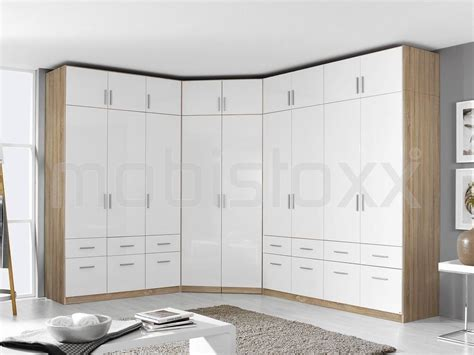 Armoire De Coin Cellon Sonoma 2 Portes Blanc Brillant Chez