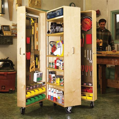 Wooden Tool Storage Cabinet Plans by Mobile Tool Cabinet Woodworking Plan From Wood Magazine