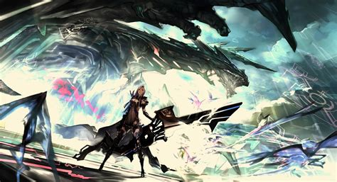 Wallpaper Anime Sword - artwork anime warrior futuristic