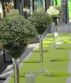 edle tischdeko  gruenweiss konfirmation hochzeit gruen