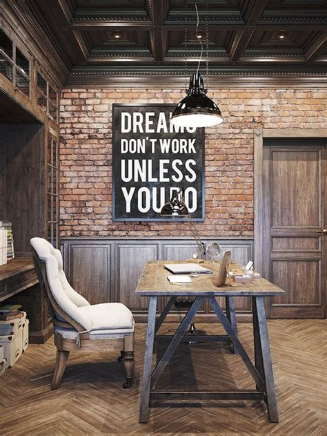 industrial man cave home office homemydesign