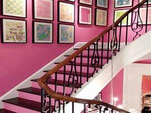 deco moderne de cage d39escalier avec peinture rose With couleur pour une cage d escalier 7 deco moderne de cage descalier avec peinture rose