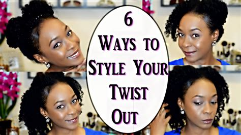 ways to style your hair 6 ways to style your twist out hair 3c 4a curls 6773
