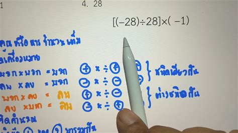ทบทวนก่อนสอบคณิตศาสตร์พื้นฐานม.1 เรื่อง จำนวนเต็ม และเลขยก ...
