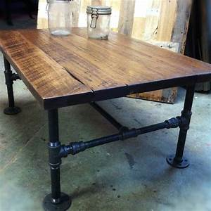Custom Made Industrial Cast Iron Pipe Coffee Table by J&S