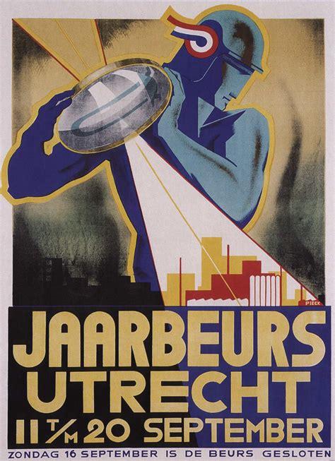 deco poster by jaarbeeurs utrecht s 1920 s