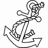 Anchor Ship Rope Nautical Boat Decal Coloring Pages Easy Drawn Drawings Simple Stencil Adult Vinyl Ocean Google Pencil Patterns sketch template
