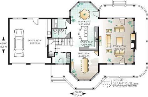 plan maison gratuit plain pied 3 chambres dé du plan de maison unifamiliale w3431