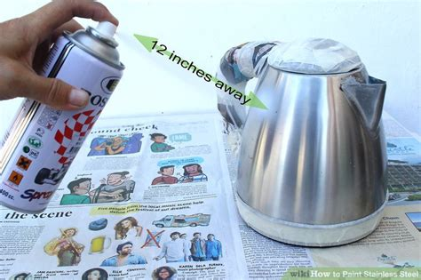 3 ways to paint stainless steel wikihow