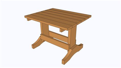 small table plans howtospecialist   build step  step diy plans