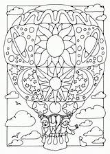 Coloring Air Balloon Pages Printable Popular sketch template