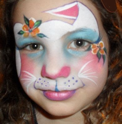 images  rabbit face paint hop  pinterest