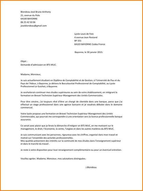 bts cuisine alternance 11 lettre de motivation bts muc alternance pour entreprise format lettre