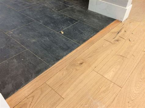 kitchen tile 100 to install this transition between the slate