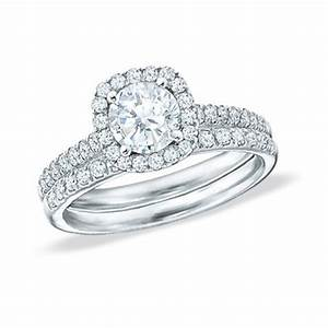 splendid halo matching wedding ring set 2 carat round cut With round wedding ring sets