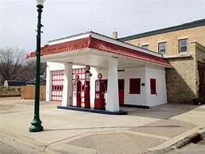 vintage gas station One Stylish Life