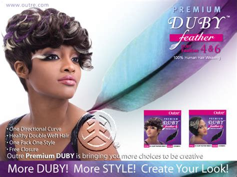 Outre 100% Human Hair Duby Feather