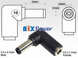 5 5 X 2 1mm Male With 4 0 X 1 7mm Female Dc Power Barrel