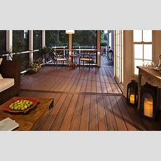 The Rich Umber Of #trex Transcend Decking In Spiced Rum