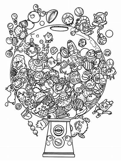 Coloring Pages Doodle Goldendoodle Invasion Doodles Adult