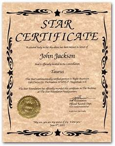 pin star certificate on pinterest With star naming certificate template