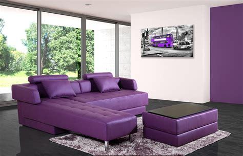 canapé violet convertible canapé d 39 angle cuir violet réversible et convertible largo