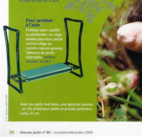 siege pour jardiner jardins animés revue de presse 2009