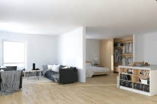 what is an open floor plan scandinavian parisian apartments in white
