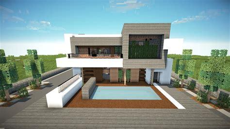 minecraft   build  modern house   modern