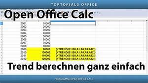 Trend Berechnen : trend berechnen ganz einfach trendberechnung openoffice calc toptorials ~ Themetempest.com Abrechnung