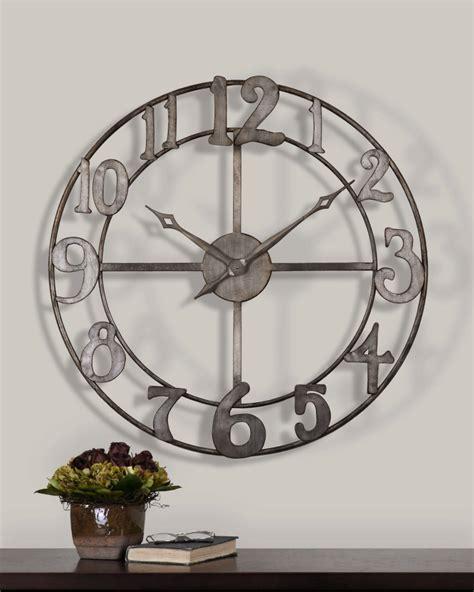 clocks large metal wall clock 60 inch wall clock 48 inch wall clock oversized wall clocks