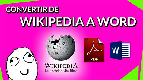 Convertir De Wikipedia A Word  Pdf Word  Youtube. Most Popular Life Insurance Companies. Website Development Template. Puerto Plata Luxury Resorts Db2 Data Types. Master Of Library And Information Science. Expert Testimony Example Cheap Chicago Movers. Sample Preparation Techniques. Hearth And Patio Knoxville Financing Of Smes. Five9 Virtual Call Center Post Ad Online Free